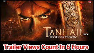 Tanhaji Trailer VIEWS Likes And Comments In 6 Hours Is Extraordinary