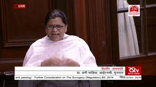 Parliament Winter Session | Dr Amee Yajnik's Remarks | The Surrogacy Regulation Bill, 2019