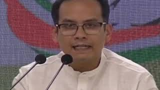 Gaurav Gogoi addresses media at Congress HQ on the Electoral Bonds Expose