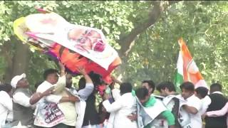 Indian Youth Congress Protest against BJP govt on the issue of SPG withdrawal