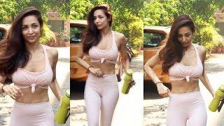 Malaika Arora Spotted Diva Yoga At Bandra - Watch Video