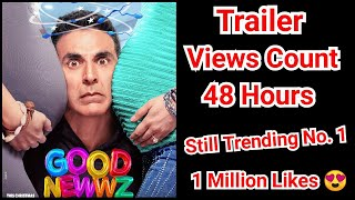 Good Newwz Trailer Views Count In 48 Hours, Still Trending On No.1 With 1 Million Likes
