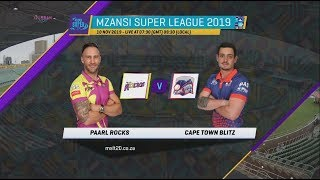 Highlights |  Paarl Rocks vs Cape Town Blitz | 3rd Match Highlights | MSL 2019