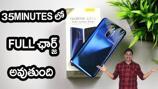 Realme x2pro Unboxing | full charge in 35 minutes telugu