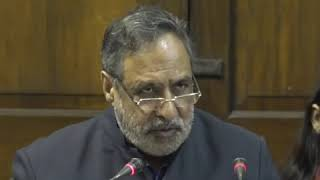 Anand Sharma addresses media in Parliament House on the Electoral Bonds Scam