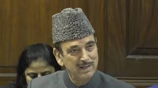 Ghulam Nabi Azad addresses media in Parliament House on the Electoral Bonds Scam
