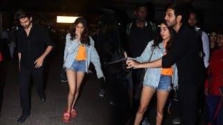 DOSTANA 2 | Kartik Aaryan And Janhvi Kapoor Return From Punjab Schedule Spotted At Mumbai Airport