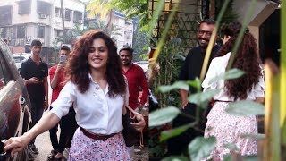 Taapsee Pannu Along With Anurag Kashyap Spotted At Kromakay Salon Juhu