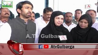 A Tv Ki Report Ka Asar MLA Gulbarga North Kaneez Fatima Ne Kiya Gulbarga Airport Ka Maueena