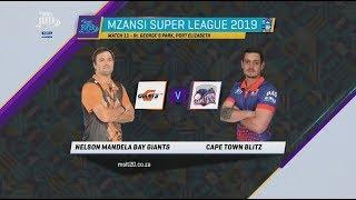 Highlights | NMB Giants vs Cape Town Blitz | 11th Match Highlights | MSL 2019