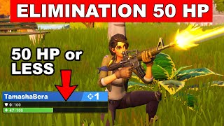 Eliminations while at 50 Health or less Challenge (Trick Shot Mission) - Fortnite Chapter 2