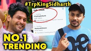 Bigg Boss 13 | Siddharth Shukla Fans Trend #TrpKingSidharth NO. 1 Trend | BB 13 Video