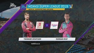 Highlights | Tshwane Spartans vs Durban Heat | Match 12 | MSL 2019