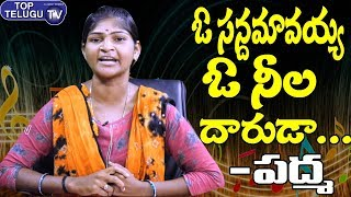 ఓ సన్దమావయ్య ఓ నీల దారుడా Song By Telangana Folk Singer Padma | Folk Singer | Palle Patalu Telugu