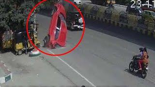 Hyderabad Car Accident  // हैदराबाद के Biodiversity Flyover से नीचे गिरी कार, महिला की मौत