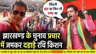 झारखंड के चुनाव प्रचार में जमकर दहाड़े भोजपुरी सुपरस्टार #RaviKishan    Jharkhand Election 2019