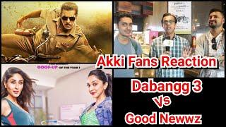 Dabangg 3 Vs Good Newwz CLASH Reaction By Akshay Kumar Fans