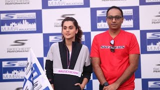 Taapsee Pannu Flagged Off 2nd Edition Of Skechers Performance Mumbai Walkathon