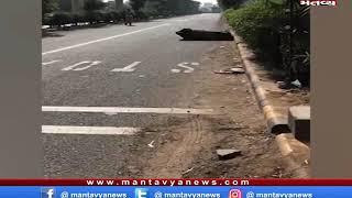 Ahmedabad: BRTS કોરીડોરમાં એમ્બ્યુલન્સ અને એક્ટિવા વચ્ચે અકસ્માત