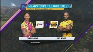 Highlights | Paarl Rocks vs Jozi Stars | Match 13 | MSL 2019