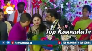 Actress Amulya and Jagadish At Dhruva Sarja Preranaa Wedding Reception