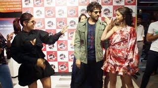 Kartik, Bhumi And Ananya Visit Fever 104 FM For Promotion Pati Patni Aur Woh