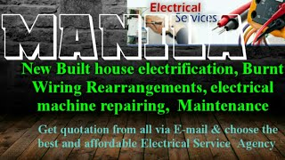 MANILA    Electrical Services 》Home Service by Electricians ☆ New Built House electrification ♤ ♧◇☆○