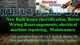 KUALA LUMPUR    Electrical Services 》Home Service by Electricians ☆ New Built House electrification