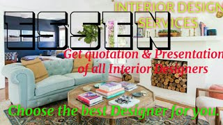 ESSEN      INTERIOR DESIGN SERVICES 》 QUOTATION AND PRESENTATION ♡Living Room ♧Tips ■Bedroom □■♤●•♡°