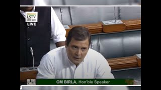 Maha govt formation: Rahul speaks briefly in LS, accuses govt of 'murdering' democracy