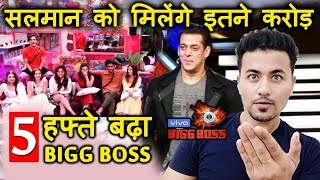 Bigg Boss 13 To Extend For 5 Weeks | Salman Khan To Get HUGE AMOUNT Per Day | BB 13