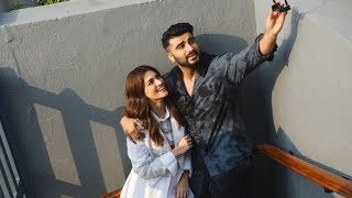 Arjun Kapoor Along with Kriti Sanon Spotted Promoting Their Film Panipat At Sun And Sand Juhu