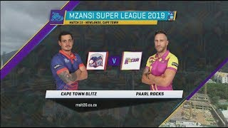 Highlights | Cape Town Blitz vs Paarl Rocks | MSL 2019 | Match 15