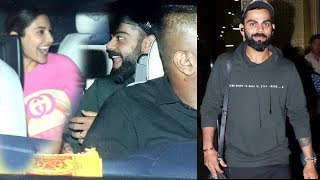 Virat Kohli And Anushka Sharma Spotted At Mumbai Airport