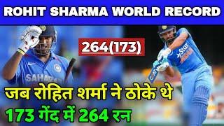 When Rohit Sharma Smashed 264 Runs off 173 Balls vs Srilanka, Rohit 264 Runs