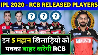 IPL 2020 - RCB RELEASED PLAYERS LIST | ROYAL CHALLENGERS BANGLORE |