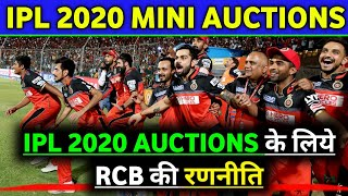 IPL 2020 - Royal Challengers Banglore(RCB) Master Planning for Mini Auctions 2020