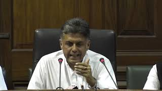 LIVE: Manish Tewari addresses the media after Devendra Fadnavis resigns as Chief Minister