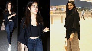 Janhavi Kapoor And Prachi Desai Spotted At Mumbai Airport