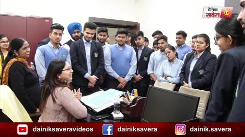 Jalandhar: Mayor World School के Students ने किया Income Tax Dept. का दौरा