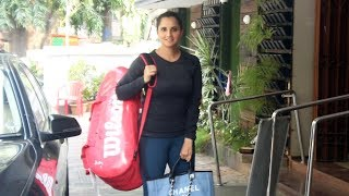 Sania Mirza Spotted Khar Gymkhana At Khar Watch Video