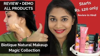 Biotique Natural Makeup - Full Affordable Magic Collection - Review, Swatches & Demo | Nidhi Katiyar