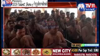 500 DEVOTEES WEAR AYYAPPA MALA IN AYYAPPA SWAMY TEMPLE AT NIRMAL