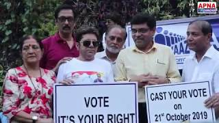 Aaj Ki Awaaz & CWC School Principle Ajay Kaul Initiative For Voting Awareness - Versova