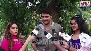 Gunjan Pant और Sanjna Raj के सईया अनाड़ी बने Gaurav Jha - Saiya Hai Anadi On Location