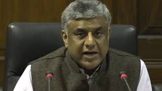 Rajeev Gawda addresses media in Parliament House on the Economic Situation in Country