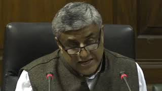 Rajeev Gowda addresses media in Parliament House on The Economic Situation in Country