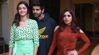 Kartik Aaryan, Bhumi Pednekar And Ananya Panday Promotes Their Upcoming Film Pati Patni Aur Woh