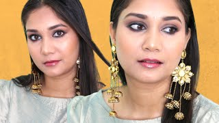 Easy Wedding Guest Makeup Using Drugstore Makeup for All Outfits | Soft Smoky Eyes | Nidhi Katiyar
