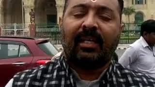 बढ़ती प्याज की कीमतों के विरोध में कांग्रेस का प्रदर्शन